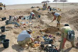Archaeologists exhume victims of the Kurdish genocide.